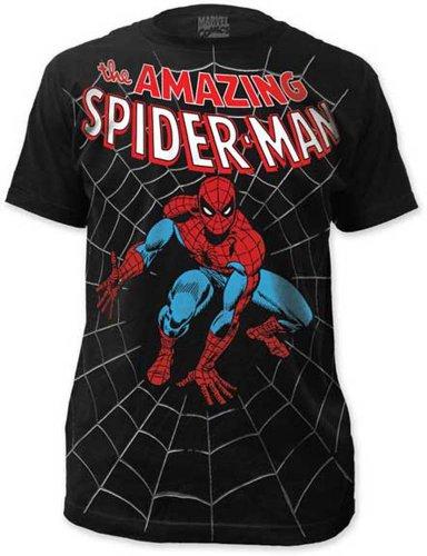 Men's Marvel Comics Spider-man Amazing Spiderman Big Print Subway T-shirt XL