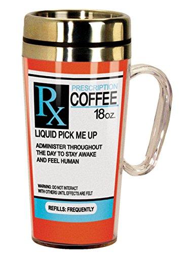 Spoontiques Prescription Insulated Travel Mug, 16 ounces, Multicolor