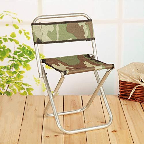 ZFLL Picknick klaptafel en stoelen Multifunctionele outdoor viskruk draagbare opvouwbare kruk, metalen rugleuning kruk opvouwbare kruk en outdoor vissen camping