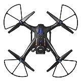 ZZH Drones avec Caméra 720P, GPS Smart Tracking Autour de 5G Carte Photographie Aérienne WiFi FPV GPS Stable Cardan Selfie Quadcopter Drones pour Enfants Adultes Débutants_Black