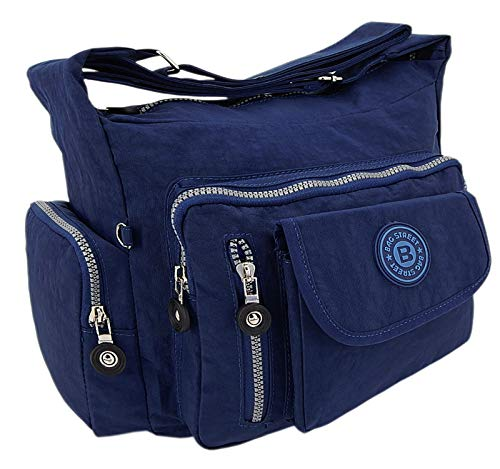 ekavale ® waterafstotende hoogwaardige lichtgewicht dames-handtas schoudertas van crinkle nylon