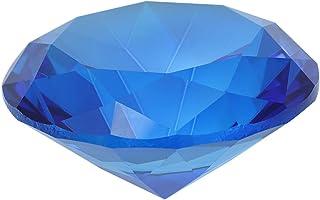Amosfun Cristal facettes Diamant Bijou Presse-papiers Mousseux gemme décoration de Mariage (Bleu)