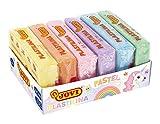 Jovi Pack plastilina de 6 unidades de 50 gramos_Multicolor pastel (70/6P), color, 500