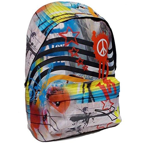 Zaino Americano Multicolor Graffiti Diadora