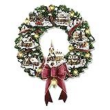 Pegatinas de ventana Árbol de Navidad Escultura giratoria Decoraciones de tren Pegar Etiqueta de ventana Decoraciones navideñas Decoración del hogar de invierno