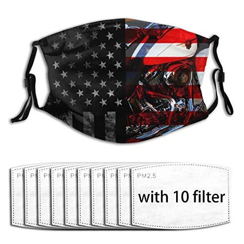 Narustop Fan Mart Winddichte Mundabdeckung mit austauschbarem Filter Aktivkohle Soft Cover, Herren, schwarz 1, 10 Filter