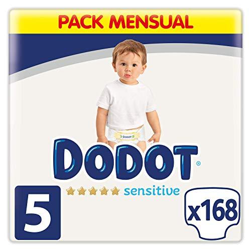 Dodot Sensitive - Pañales, 11-16 kg, Talla 5, 168 Unidades