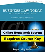CengageNOW (with Business Law Digital Video Library) for Miller's Business Law Today, Standard Edition, 10th Edition
