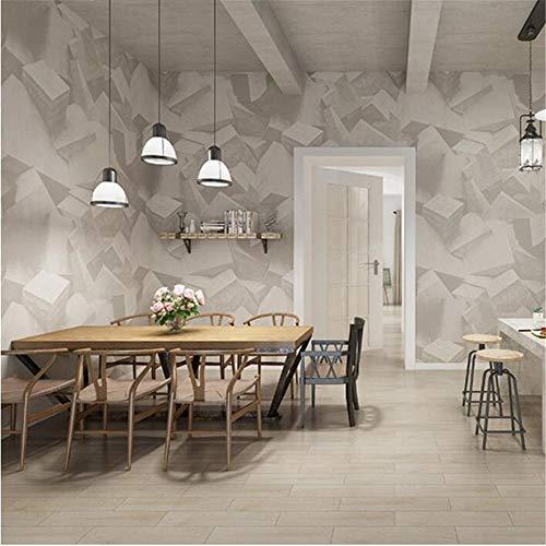 Pmhhc Beunruhigte industrielle Art 3D Tapete abstraktes gestapeltes Zement-Block-graues Steinwand-Papier für Bar u. Bekleidungsgeschäft u. Tee-Shop