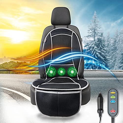 Walser 16650 Sitzauflage CoolHeat, atmungsaktiver Sitzaufleger mit Kühlung und Massagefunktion, Sitzschoner mit Kühl- und Heizfunktion für PKW, LKW