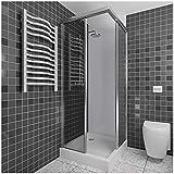 Endlich wieder wohlfühlen im Bad, Duschrückwand von Wallando, Duschwand, Wandverkleidung PVC Kunststoffplatte, 200x100cm, Weiß, Nie mehr Fugen schrubben
