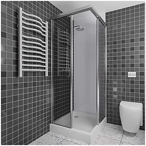 Duschwand Verkleidung als Wandfliesen Badezimmer Ersatz - Duschrückwand Kunststoff als Duschwand ohne Bohren - Wandverkleidung Kunststoff (200x100cm, weiß)