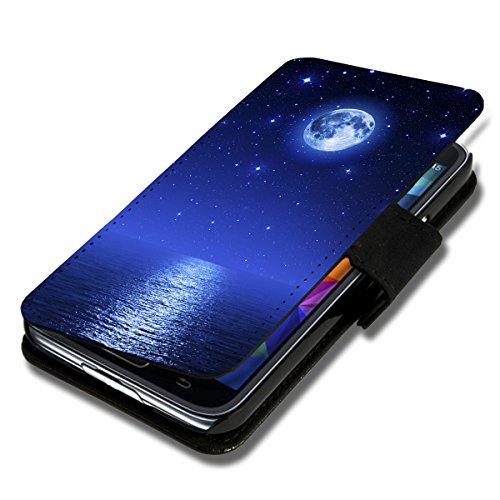 wicostar Book Style Flip Handy Tasche Hülle Schutz Hülle Schale Motiv Foto Etui für LG Bello 2 / Bello II - Flip X17 Design3