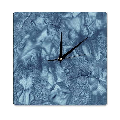 Mari57llis Reloj de pared cuadrado de 30,5 x 30,5 cm, Hoffman Watercolor Bali London, reloj de madera para decoración de habitación