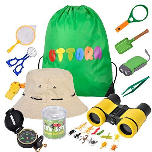 UTTORA Outdoor Explorer Kit Kids Toys,25 Pieces Birthday Present for 8+...