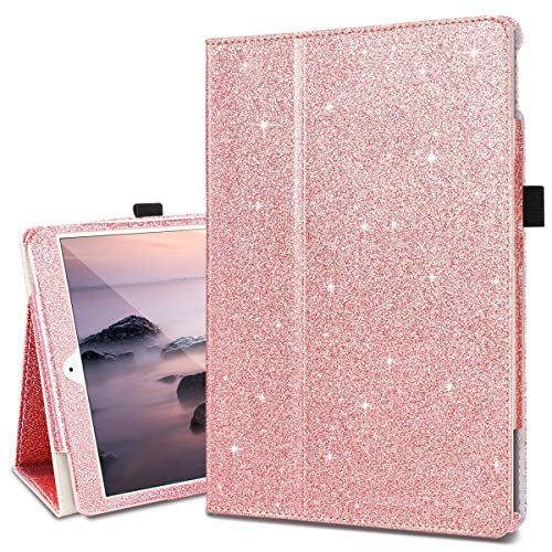 Fingic iPad 8th Generation (2020) Case/ 7th Generation (2019) 10.2 Inch Case Glitter Bling Folio Stand Smart Auto Wake/Sleep Pencil Holder Protective Case for iPad 10.2/ Air 3 10.5 2019/Pro 10.5 2017