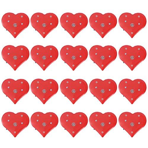 PRETYZOOM Pin de Corazón Iluminar Corazón Corazón Binario -20 Piezas Corazón de Amor Broche Intermitente Broche Led Broche de Luz Intermitente para Suministros para El Día de San Valentín