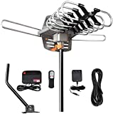 HDTV Antenna Amplified Digital Outdoor TV Antenna 150 Miles Range with Mounting Pole-4K
