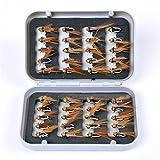 JasCherry 40 Piezas Moscas de Pesca Moscas Artificiales Señuelos de Mosca Señuelos de Pesca con...