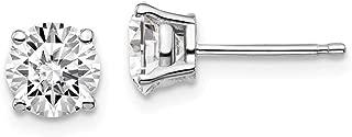 14k White Gold 1 1/2ctw SI1/SI2, G-H Lab Grown Diamond 4-Prong Stud Earrings Gift for Women