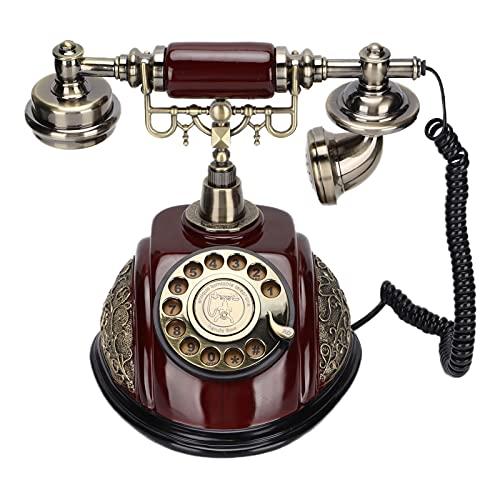 Teléfonos Fijos Antiguos Vintage, Teléfono Retro Para El Hogar A La Antigua, Imitación De Resina De Cobre, Teléfono Con Cable De Estilo Vintage Para Casa, Con Dial Giratorio Retro,para Cafetería Y Bar
