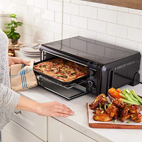 Ninja SP101 Foodi 8-in-1 Digital Air Fry, Large Toaster Oven, Flip-Away for Storage, Dehydrate, Keep Warm, 1800 Watts, XL Capacity, --Renewed--BLACK