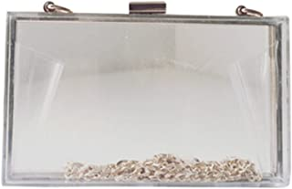 Remeehi Women's Acrylic Perspex Evening Clutches Shoulder Bags Handbag Small Transparent