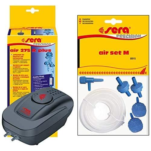 Sera Bundle Luftpumpe bestehend aus Air 275R Plus elektronisch regelbar mit Air Set M fürs Aquarium