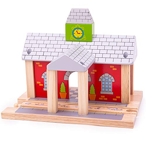 Bigjigs Rail Wooden Railway Station - Other Major Rail Brands are Compatible