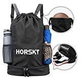 Horsky Drawstring Backpack Sports Dry Wet Separation Gym Bag with...