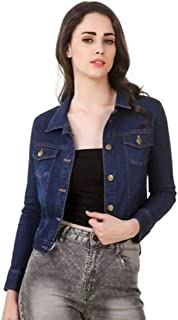 KING-DENIM Shree Kmt Enterprises Full Sleeves Comfort Fit Regular Collar Blue Jacket for Women…