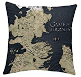 Juego de Tronos - Cojin del Mapa de Westeros de 40 x 40 cm