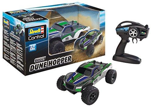Revell Control Car 24484 Dune Hopper, RC Buggy, ferngesteuertes Auto mit 2,4 GHz Fernsteuerung, handliche Pistolenfernsteuerung, mit großen, profilierten Reifen, gefederten Achsen, bunt