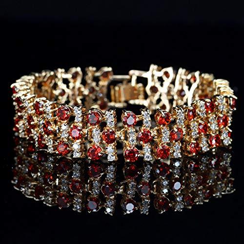 iceBoo Bracciale a Fascia Larga con zirconi cubici Larghi Color Oro Gioielli da Festa per Donna