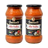 Botticelli Premium Alla Vodka Pasta Sauce (Pack of 2) for Spaghetti Sauce, Penne & Pizza - Made in...