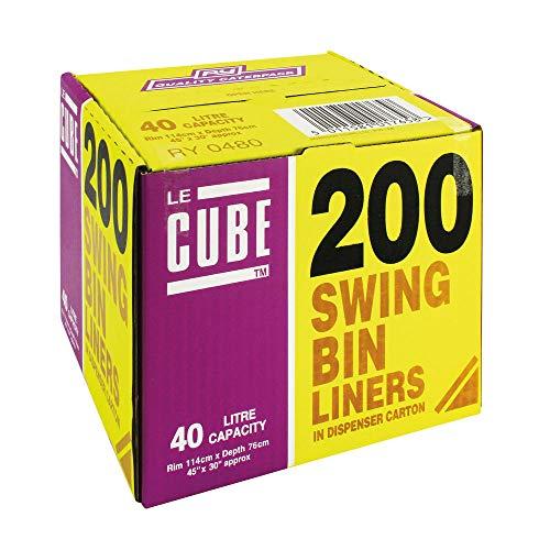 Le Cube 480 Swing vuilniszakken dispenser, 40 l (200 stuks)