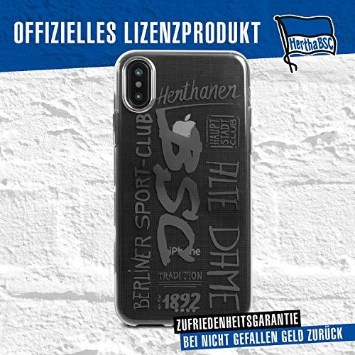 Hertha BSC Case - 10er - Schutzhülle passend für das Apple iPhone XS und iPhone X