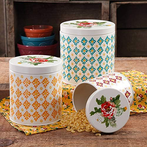The Pioneer Woman 3-Piece Vintage Geo Canister Set by The Pioneer Woman
