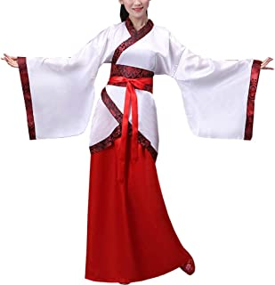 Womens Chinese Ancient Costume Hanfu Outfit Long Sleeve Folk Dance Dress Ruqun