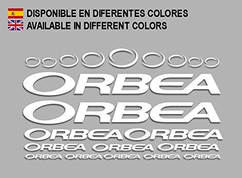 Ecoshirt 3K-PJVS-4NQJ Pegatinas Orbea F208 Stickers Aufkleber Decals Adesivi Bicycle Bike MTB BTT, Blanco