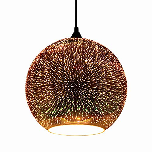 JEUNEU Modern 3D Colourfull Glass Pendant Light Firework Lamp Kitchen Decor Lighting Fixture ((9.84...