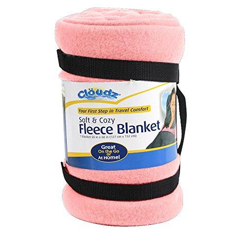 Cloudz Fleece Travel Blanket - Pink