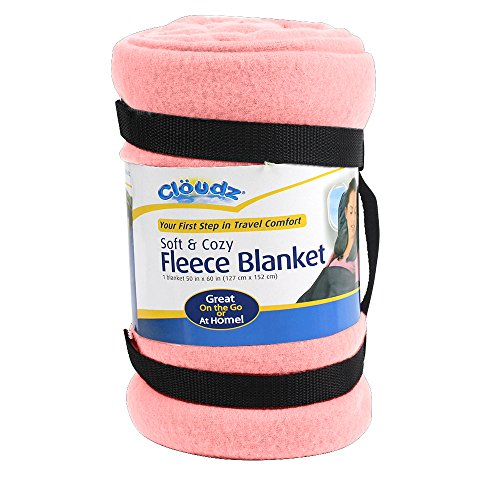 Cloudz Fleece Travel Blanket - Pink
