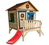 Redwood Penthouse Holz Playhouse mit Slide, lackiert Tower Play House für Kinder mit Briefkasten...