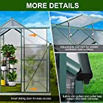 July's song greenhouse,polycarbonate walk-in plant greenhouse with window for winter,garden green house kit for backyard… 10 【extend the growing season】perfect for a first-time or seasoned home gardener, july's song walk-in greenhouses protect plant against rough weather. You can make sure that your plants are healthy and happy all year round. 【sturdy & durable】this diy greenhouse kit is made of 4mm twinwall uv/wind resistant polycarbonate panels and thickened premium aluminum frame,all this together with heavy-duty galvanized base help provide solid support for your entire plant nursery. 【multi-function design】the greenhouse for outdoor has sliding doors for easy access, roof vent for effortless ventilation, and rain gutters for effective drainage of water and snow.