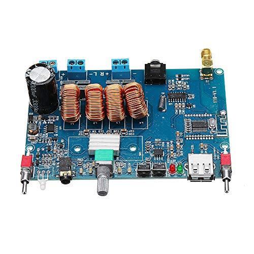 YEZIB Accesorios electrónicos de Bricolaje, Bluetooth inalámbrico 4.2 2 Canales Tablero de Amplificador de Potencia Digital estéreo DC12-24V / AC8-16V
