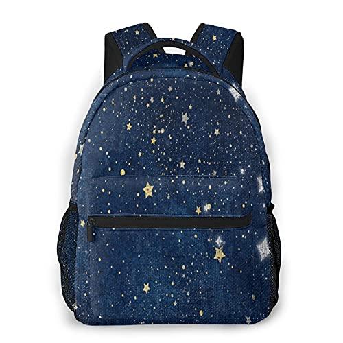 Bolsas de la escuela del cielo estrellado para los muchachos de las muchachas, mochila básica casual durable resistente al agua para los estudiantes