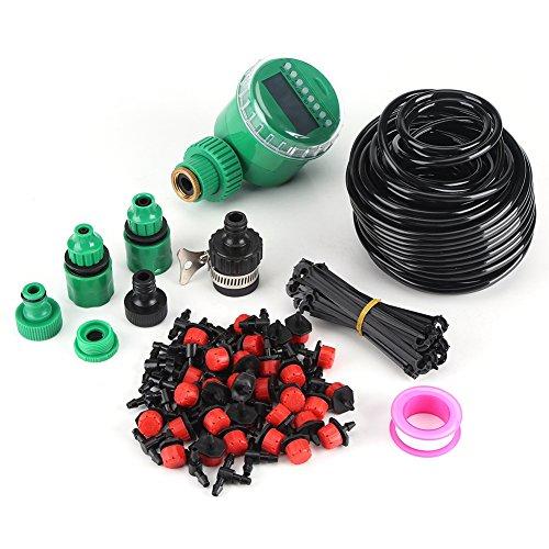 灌漑キット マイクロ灌漑システム 自動散水システム 自動散水タイマー DIY 節水灌漑 電池式 ガーデニング/芝生/庭園/観葉植物/鉢植えに適用 取り付け簡単 軽量 25m