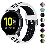 KIMILAR Pulseras Compatible con Samsung Galaxy Watch 42mm/Watch Active/Active 2 (40mm/44mm), Silicona Correa Compatible con Garmin Vivoactive 3/Forerunner 645/245, Vivomove/Vivomove HR Sport -S