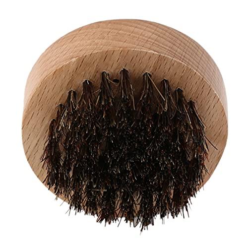 Tree-es-Life Cepillo para Barba Redondo de Madera + Pelo de jabalí para Hombre, Peine de Pelo Facial para acondicionamiento de Bigote, Peinado y Mantenimiento